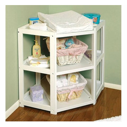 Diaper Corner™ Baby Changing Table, White