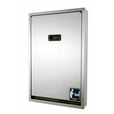 Brocar Vertical Mount Stainless Steel Changing Station