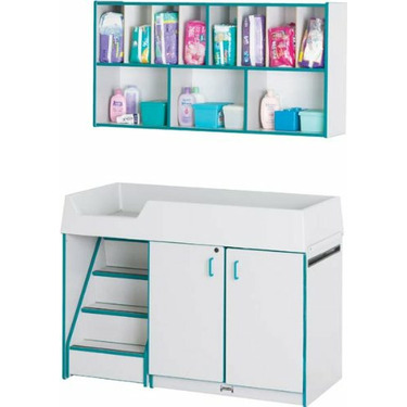 Rainbow Accents Diaper Changer Combo Changing Tables