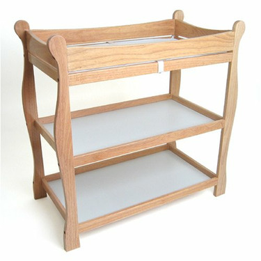 Natural Sleigh Style Changing Table