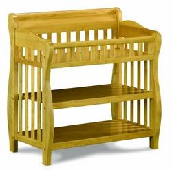 Atlantic Furniture 98825 Versailles Knock Down Changing Table in Natural Maple