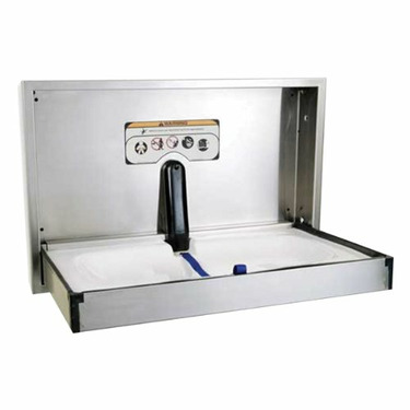 Foundations 100-SSR-SM Wall-Mount Stainless Steel Diaper Changing Station - Horizontal Surface Mount