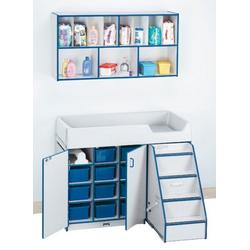 Jonti-Craft 5142JC003 DIAPER CHANGER COMBO - RIGHT - BLUE