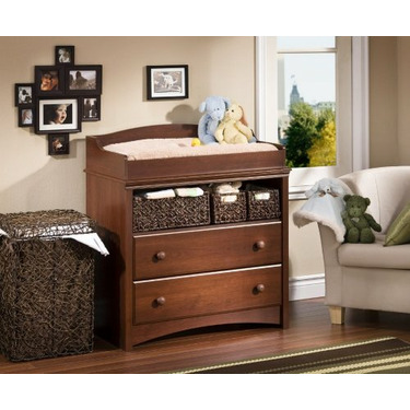South Shore Sweet Morning Changing Table in Royal Cherry