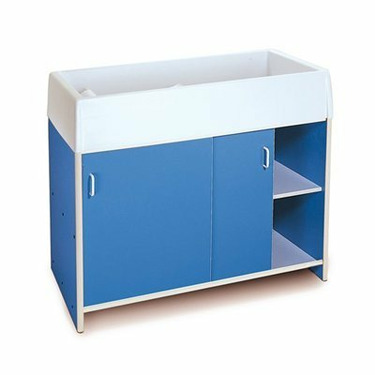 Whitney Bros WB0721B Round-Edge Infant Care Changing Cabinet - Blue