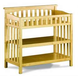 Atlantic Furniture 98835 Columbia Knock Down Changing Table in Natural Maple