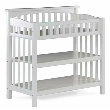 Atlantic Furniture 98832 Columbia Knock Down Changing Table in White