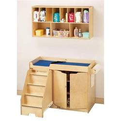 Jonti-Craft 5135JC Changing Table with Stairs Combo, Natural
