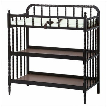 Jenny Lind Changing Table in Ebony Black