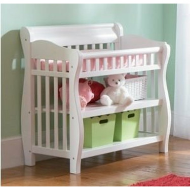 Atlantic Furniture 98822 Versailles Knock Down Changing Table in White