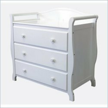 L.A. Baby 3 Drawer Wood Changing Table in White