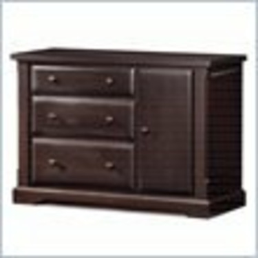 Child Craft Hawthorne Wood Dressing Changing Table in Espresso Finish