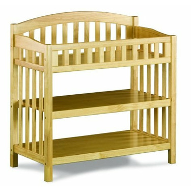 Atlantic Furniture 98805 Richmond Knock Down Changing Table in Natural Maple