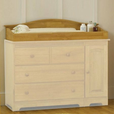 Atlantic Furniture 69145 Windsor Changing Table in Natural Maple