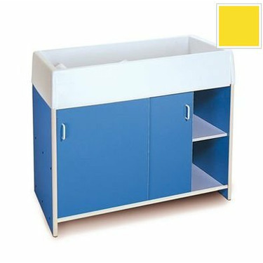 Whitney Bros WB0721Y Round-Edge Infant Care Changing Cabinet - Yellow