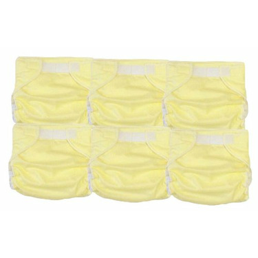 6 Light Yellow Kidalog Baby Love Fitted All-in-one Cloth Diaper with Breathable Built-in Cover