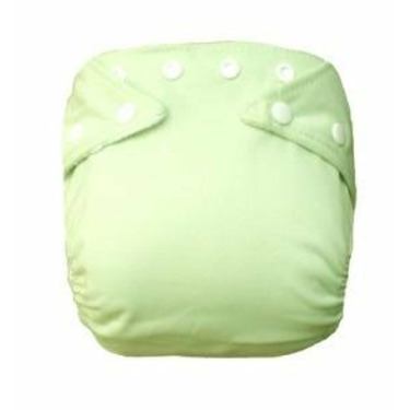 Adorable Pocket Cloth Diaper Adjustable One Size Fits All (green)
