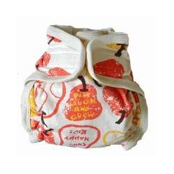 Sckoon Organic Cotton Baby Cloth Diaper Red Pear Small
