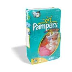 Pampers Baby Dry Diapers Sesame Street, Size 2, 48-Count (Pack of 4)