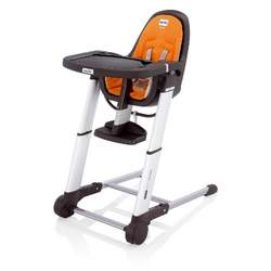 Inglesina Zuma Gray Highchair, Orange