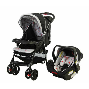 Dream On Me The Wanderer Family Collection Travel System, Red