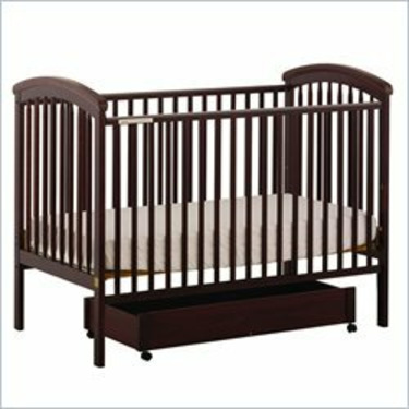 Stork Craft Charlotte 4-in-1 Cherry Fixed Side Baby Crib
