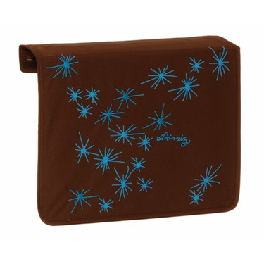 Lassig Front Cover For Messenger Bag, Stars Choco