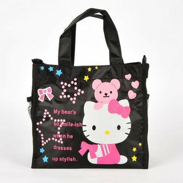 Hello Kitty Teddy Bear Tote Handbag Lunchbox Bag
