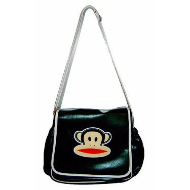 Paul Frank Messenger Style Diaper Bag, Black