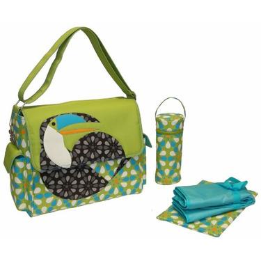 Eleanor Flap Diaper Bag in Toucan