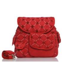 Baby Bee Bags Designer Eglan Red Star Design Diaper Tote, Backpack, Messenger Bag