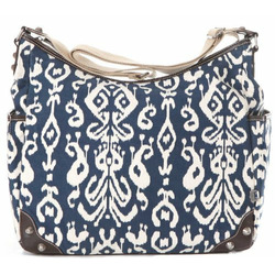 OiOi Ikat Tapestry Hobo Diaper Bag (Blue)