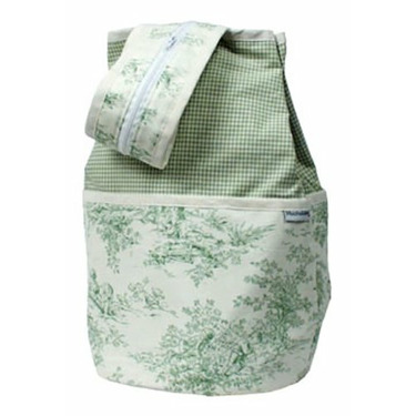 Hoohobbers Personalized Diaper Bag Backpack Personalized Diaper Bag Backpack in Etoile Green Customize: Yes, Personalization: Embroidered - Two Words