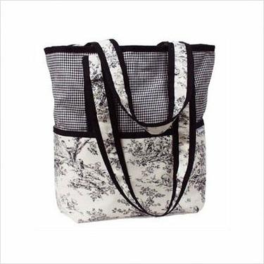 Hoohobbers Personalized Diaper Bag Tote Personalized Diaper Bag Tote in Etoile Black