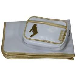 O.R.E. Hot Momma Diaper Bag White and Gold Trim