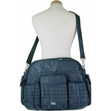 Lug Tuk Tuk Carry All Bag Also great as a diaper bag, Gray Blue