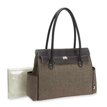Carter's Diaper Bag Tote - Brown Tweed