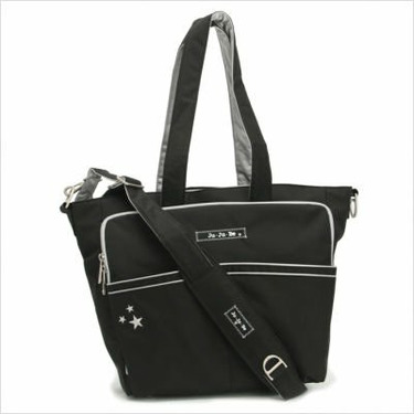 Be Spicy Diaper Bag Tote in Black / Silver