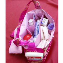 Spoiled Little Mama Lilac Brown Print Diaper Bag Tote