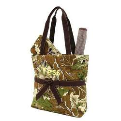 Belvah Quilted Camo Monogrammed 3pc Diaper Tote