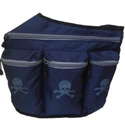Diaper Dude Navy Diaper Bag with Skulls
