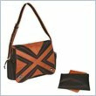 Kalencom Hannah's Messenger Bag - Chocolate/Orange