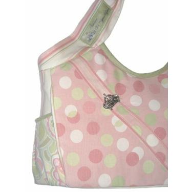 SAGE ROSE pink canvas diaper bag by Victorien von Pippenpuppen