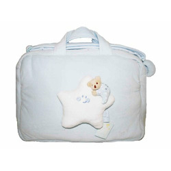 Baby Travel Bag/ Diaper Tote Bags, Moons & Stars Collection - Blue