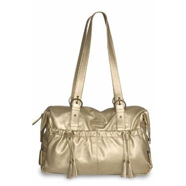Shanti Metallic Diaper Bag by Baby Kaed - GOLD