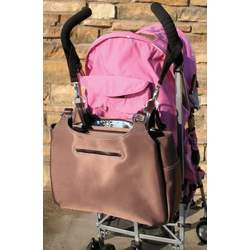 Chocolate and Periwinkle Azalea Convertible Backpack Diaper Bag