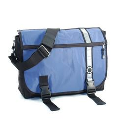DadGear Diaper Bag-Blue Retro Stripe Messenger - DAD003
