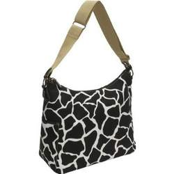 Giraffe print Hobo in Black on White Diaper Bag (6154)