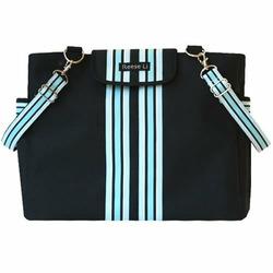 Black Baby Blue Lexington Diaper Bag