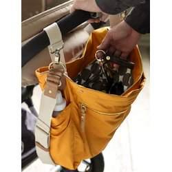 Charcoal Sullivan Messenger Diaper Bag